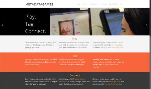 MetadataGames homepage