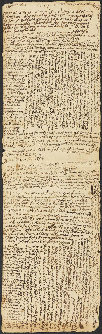 page from Stephen Williams's diary